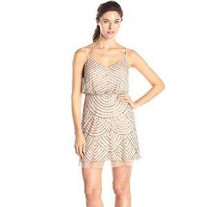 Adrianna Papell Blouson beaded dress